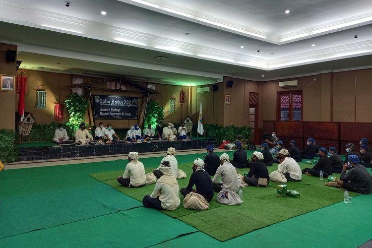 Tradisi Seba Baduy digelar terbatas di Pendopo Kabupaten Lebak, Jumat (21/5/2021)