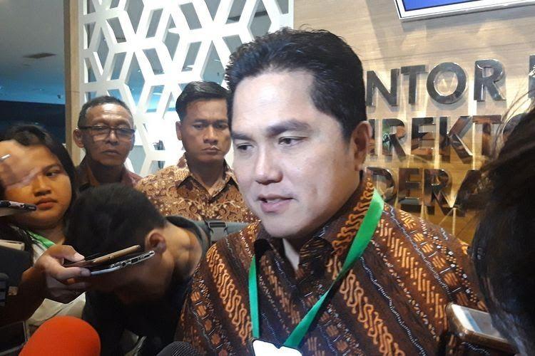 Menteri BUMN Erick Thohir di Jakarta, Jumat (13/12/2019