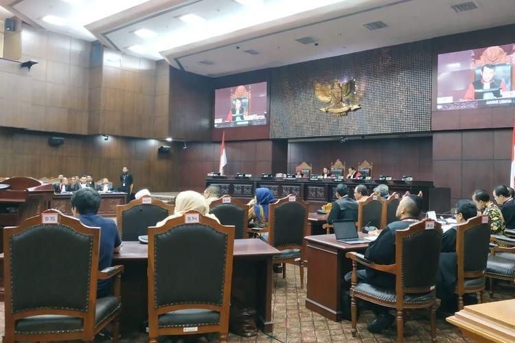 Sidang Sengketa Hasil Pileg di Mahkamah Konstitusi (MK), Jakarta Pusat, Selasa (9/7/2019).