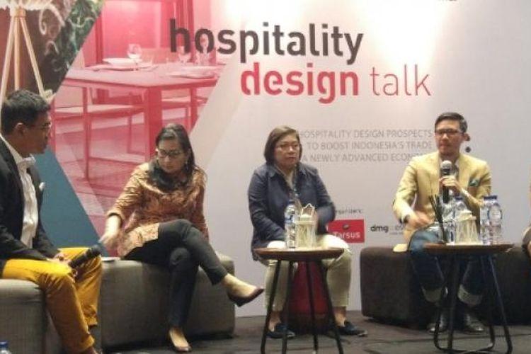 Hospitality Design Talk, di Artotel, Jakarta, Senin (13/3/2017).