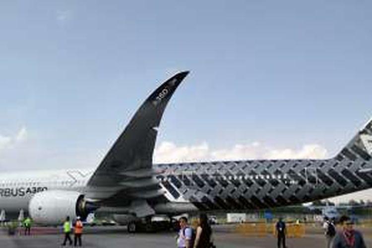 F-WWCF, pesawat uji Airbus A350-900.