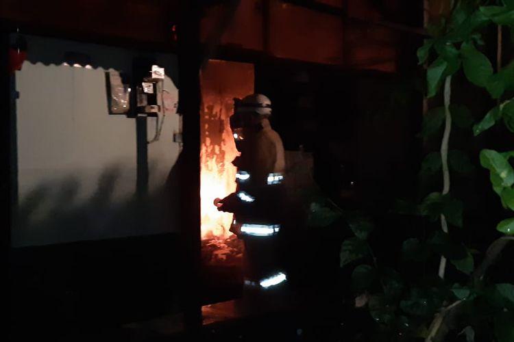 Kebakaran di asrama Kodam IV Diponegoro, Kelurahan Jatingaleh, Kecamatan Candisari pada Rabu (7/7/2021)