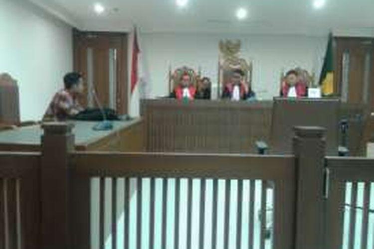 Suasana ruang sidang gugatan perdata Toeti Nozlar Soekarno terhadap Pemprov DKI soal   kepemilikan lahan di Cengkareng Barat, Jakarta Barat di Pengadilan Negeri Jakarta Pusat, Rabu (10/8/2016).