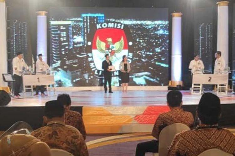 Debat publik Pilkada Surabaya putaran pertama yang digelar Rabu (4/11/2020) malam.