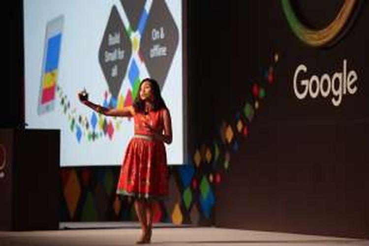 Head of Marketing Google Indonesia Veronica Utami, Kamis (31/3/2016) dalam acara