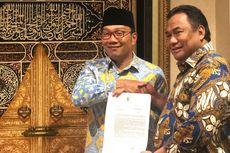 Bertemu Rahmat Gobel, Ridwan Kamil Sampaikan Aspirasi Demo Mahasiswa di Bandung