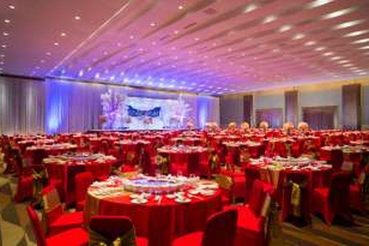 Tatanan ruang dan meja untuk Oriental Wedding.