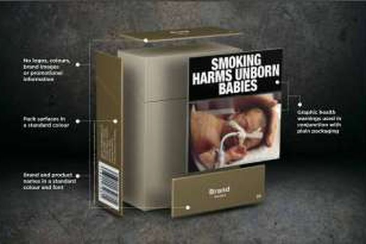 Bungkus rokok polos usulan WHO.