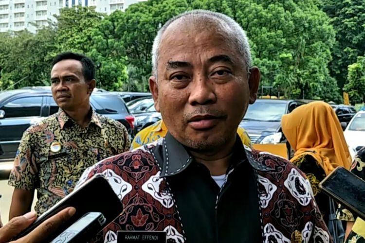 Wali Kota Bekasi, Rahmat Effendi saat ditemui di Islamic Center, Bekasi Selatan, Kota Bekasi, Kamis (21/2/2019).