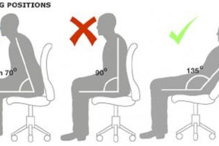 Posisi duduk yang baik untuk tulang punggung