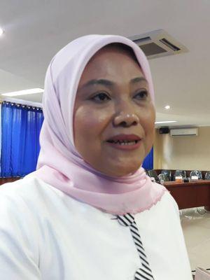 Direktur Penggalangan Pemilih Perempuan Tim Kampanye Nasional (TKN) Jokowi-Maruf,Ida Fauziah, di kantor KPAI, Jakarta Pusat, Rabu (13/3/2019).