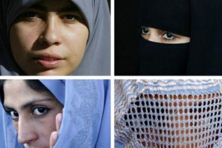 Berbagai macam pakaian perempuan Muslim (Muslimah) dan ini beberapa variasinya, yakni jilbab, burka, dan cadar.