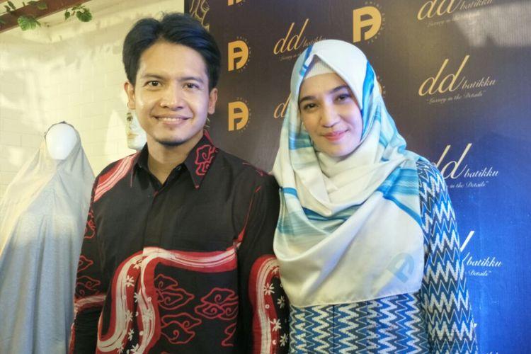 Dimas Seto dan Dhini Aminarti ditemui dalam sebuah acara di kawasan Kebayoran Baru, Jakarta Selatan, Minggu (6/5/2018).