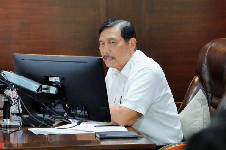 Menteri Koordinator bidang Kemaritiman dan Investasi Luhut Binsar Pandjaitan menggelar rapat koordinasi internal bersama KKP dan Pemerintah Provinsi Bali di Jakarta, Rabu (6/1/2021).