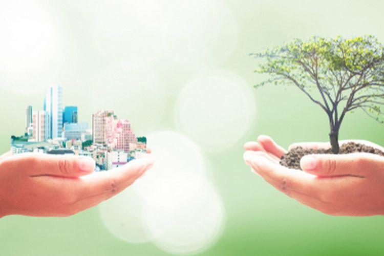 Ilustrasi pembangunan berkelanjutan, ilustrasi sustainability