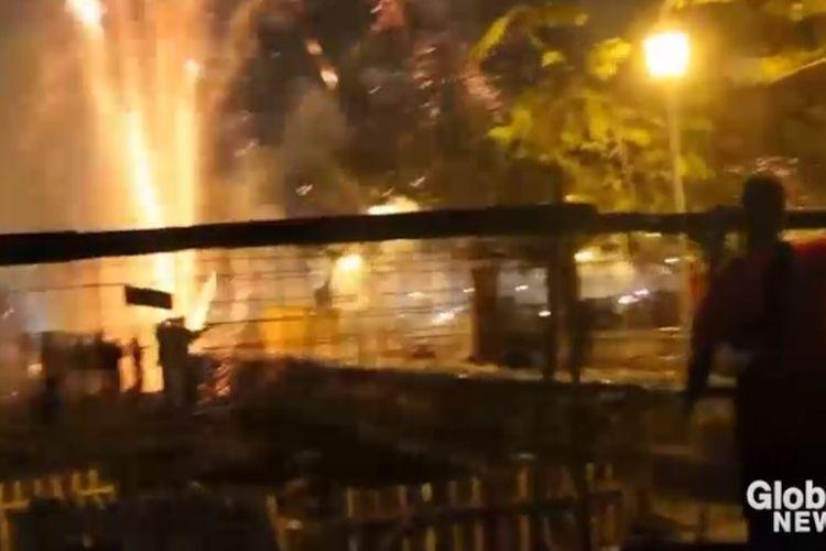 Sebuah insiden ledakan petasan di Kuba menyebabkan 39 orang terbakar di acara natal tradisional yang disebut Festival Parrandas. (Global News)