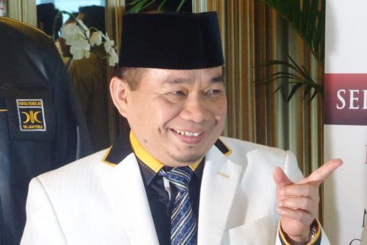 Ketua Fraksi PKS Jazuli Juwaini saat membuka rapat pleno PKS di Hotel Aston Priority, Jakarta, Kamis (12/1/2017).
