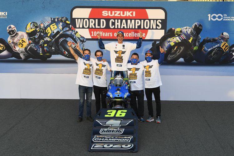 Joan Mir berhasil menjadi juara dunia MotoGP 2020