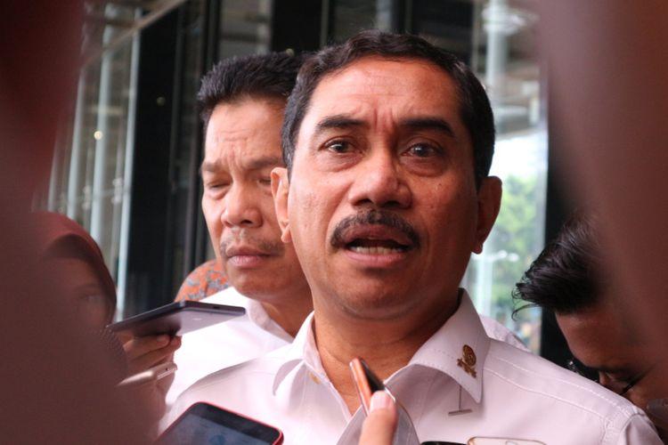 Kepala Badan Nasional Penanggulangan Terorisme (BNPT) Komisaris Jenderal Polisi Suhardi Alius ketika ditemui di hotel Bidakara, Jakarta, Rabu (7/2/2018).
