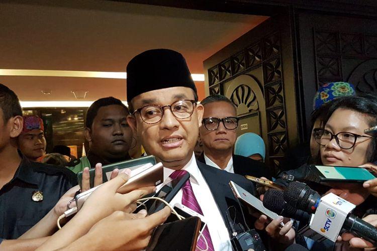 Gubernur DKI Jakarta Anies Baswedan di Gedung DPRD DKI Jakarta, Jalan Kebon Sirih, Jakarta Pusat, Rabu (19/2/2020).