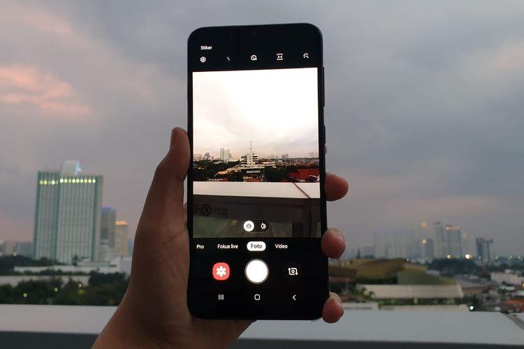 Fitur kamera ultra wide di Galaxy A20, bisa menangkap gambar dengan jangkauan hingga 123 derajat.