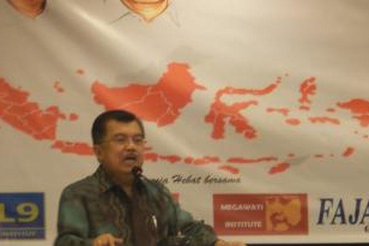 Wakil Presiden terpilih Jusuf Kalla pada diskusi