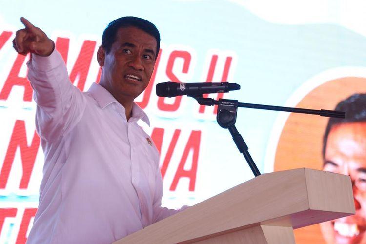Menteri Pertanian (Mentan) Andi Amran Sulaiman saat membuka peresmian  Kampus II Bone Politeknik Pembangunan Pertanian (Polbangtan) Gowa di Bone, Sulawesi Selatan, Senin (4/8/2019) pagi.