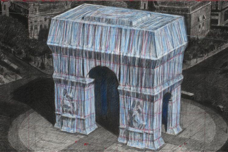 Rancangan instalasi seni Arch de Triomphe
