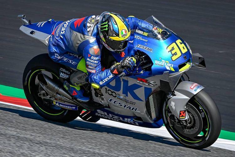 Joan Mir saat berlaga di MotoGP Styria