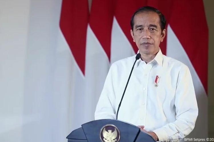 Tangkapan layar Presiden Joko Widodo, Kamis (22/4/2021), saat memberikan keterangan terkait hilang kontaknya KRI Nanggala-402