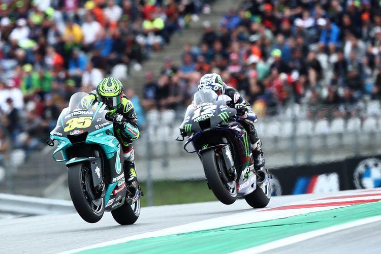 Cal Crutchlow saat balapan pada MotoGP Styria 2021