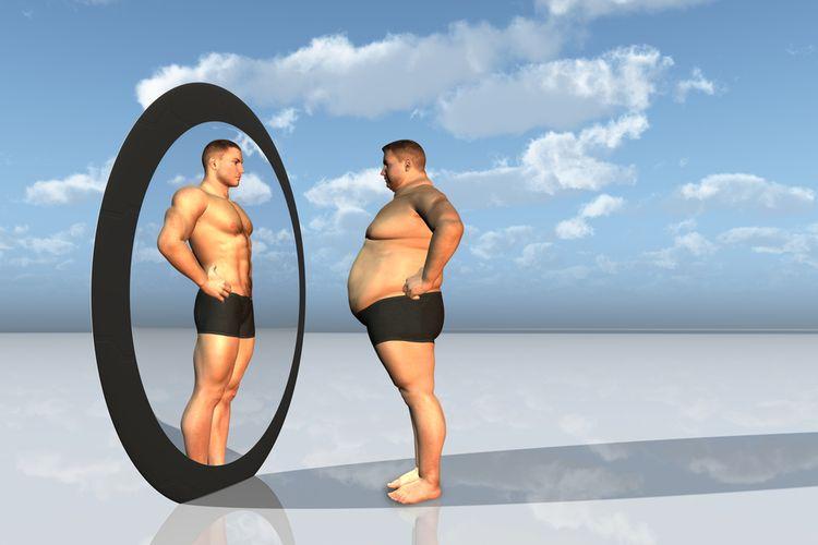 ilustrasi gemuk dan langsing