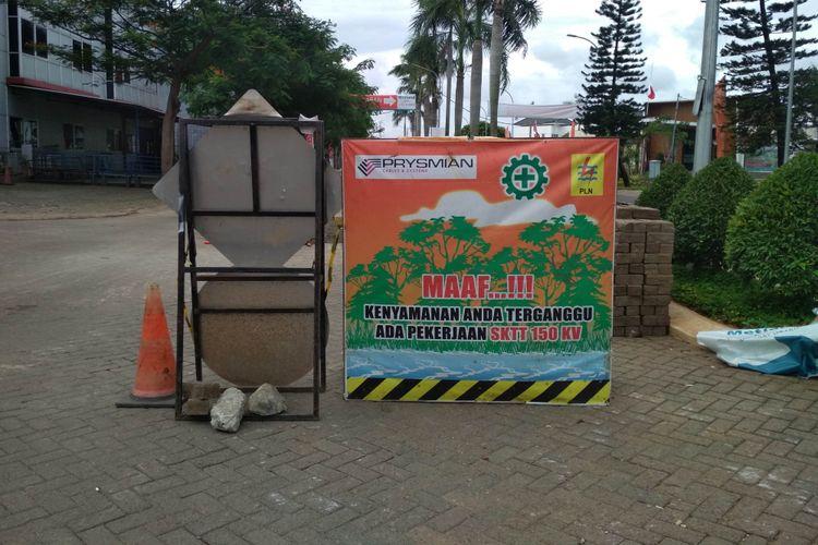 Kondisi terkini Bekas lokasi semburan Lumpur di Permuahan Metland, Karang Tengah, Tangerang pada Minggu (30/12/2018) pukul 08.30