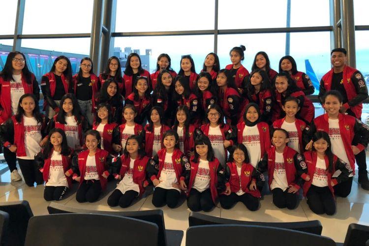 Atlet Federasi Cheerleading Seluruh Indonesia (FCSI) berhasil menorehkan prestasi internasional lewat raihan medali perak dan perunggu di ajang Asian Junior Cheerleading Championship (AJCC) 2019 di Takasaki City, Jepang, Minggu (12/5/2019).