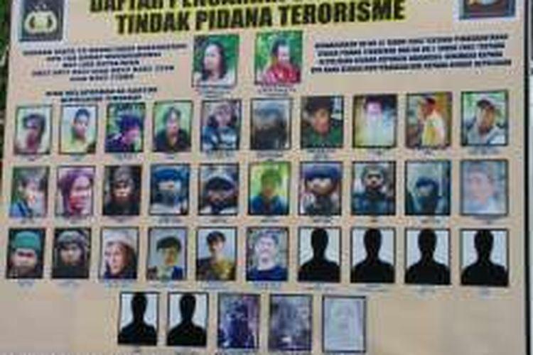 Foto Terbaru Para DPO Teroris Kelompok Santoso pada Selasa (15/03) 2016