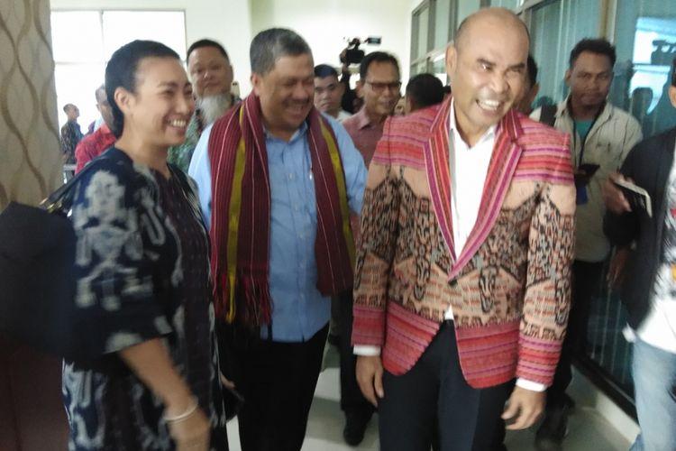 Wakil Ketua DPR RI Fahri Hamzah, saat bertemu dengan Gubernur NTT Viktor Bungtilu Laiskodat di Kupang, Kamis (24/1/2019)