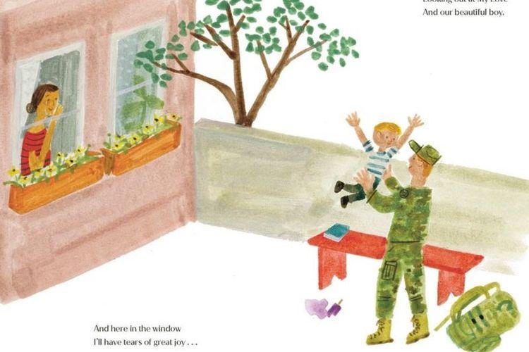 Gambar karya ilustrator Christian Robinson akan disertakan dalam buku The Bench yang ditulis oleh Meghan Markle.