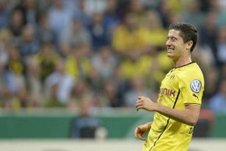 Penyerang Borussia Dortmund Roberto Lewandowski.