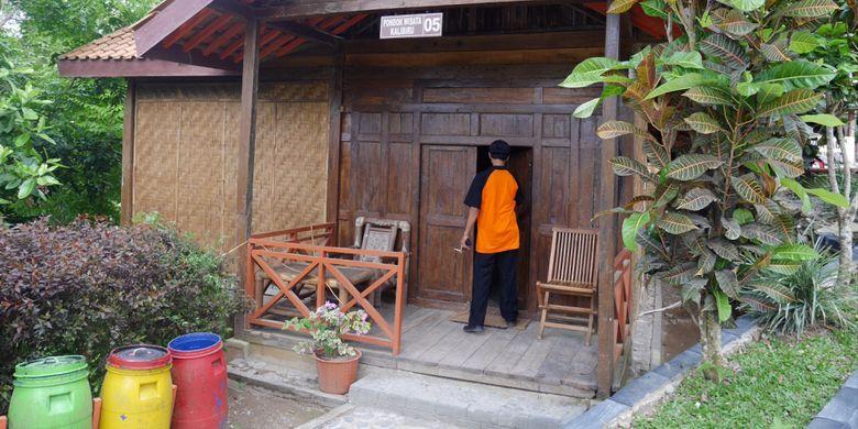 Kondisi homestay yang disewakan pada pengunjung di area Wisata Alam Kalibiru, Desa Hargowilis, Kecamatan Kokap, Kulon Progo, Daerah Istimewa Yogyakarta, Jumat (3/11/2017).