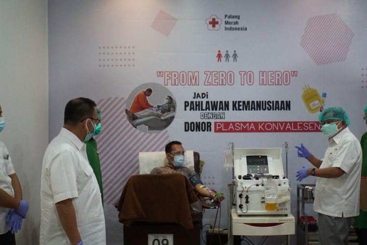 Ketua Umum Palang Merah Indonesia (PMI) Jusuf Kalla dalam sebuah acara, Jumat (2/7/2021).