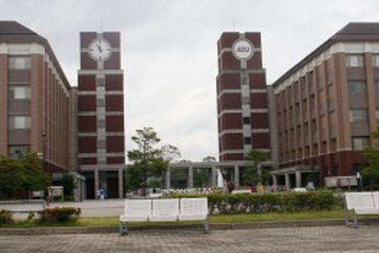Suasana kampus Ritsumeikan Asia Pacific University (APU), Beppu, Jepang, Kamis (27/6/2013).