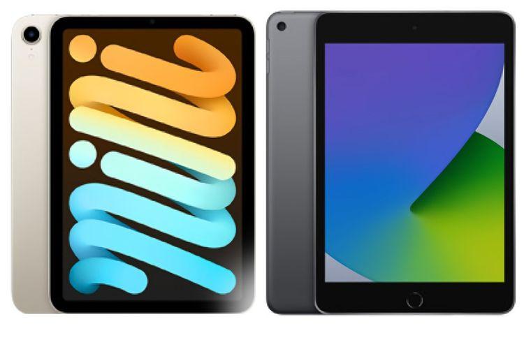 iPad Mini 6 (kiri) dan iPad Mini 5 (kanan).