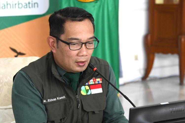 Gubernur Jabar Ridwan Kamil, saat memberi keynote speech dalam acara MarkPlus Government Roundtable Series COVID-19: New, Next, Post, dari Gedung Pakuan, Kota Bandung, Kamis (25/6/2020).
