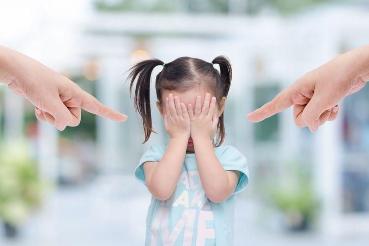 Ilustrasi emosi orangtua kepada anak