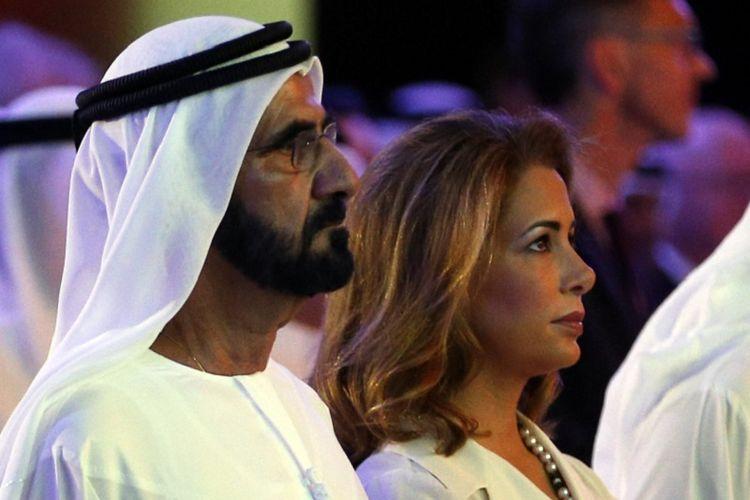 Putri Haya (kanan) bersama suaminya, emir Dubai, sekaligus wakil presiden Uni Emirat Arab, Syekh Mohammed bin Rashid al-Maktoum.