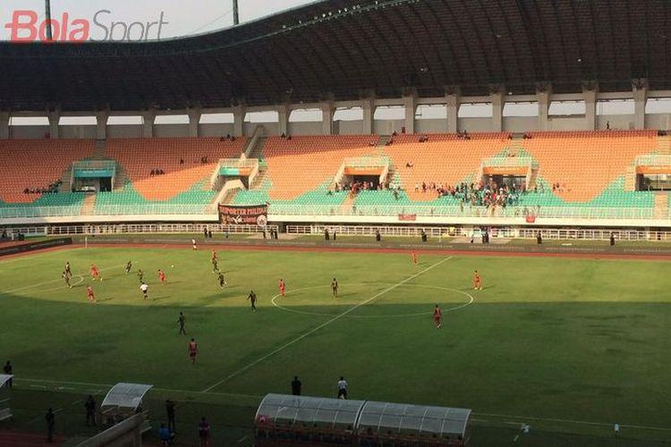 Laga PS Tira-Persikabo vs Persija Jakarta di Stadion Pakansari, Cibinong, Kabupaten Bogor, Selasa (7/16/2019).