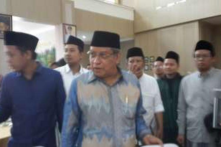 Ketua Umum PBNU Said Aqil Siradj saat menghadiri Batu International Islamic Tourism di Balai Kota Among Tani, Kota Batu, Sabtu (3/12/2016)