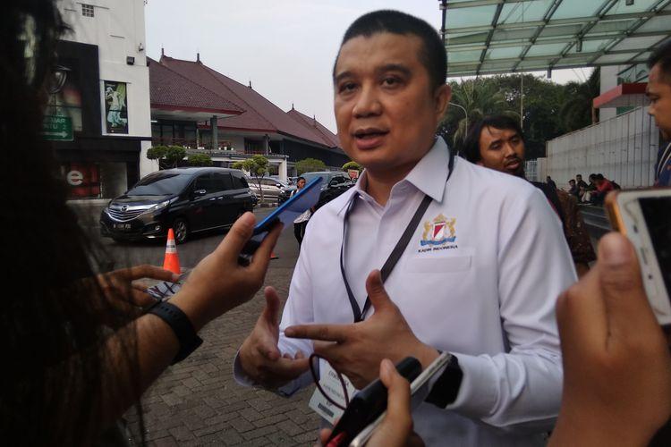 Erwin Aksa saat diwawancarai awak media di Jakarta, Rabu (6/11/2019).