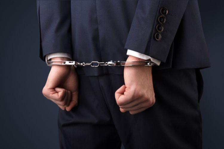 Ilustrasi pengusaha ditahan.