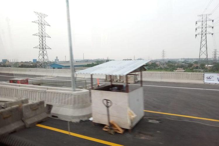 Kondisi Jalan Tol Layang Jakarta-Cikampek, Rabu (4/12/2019)
